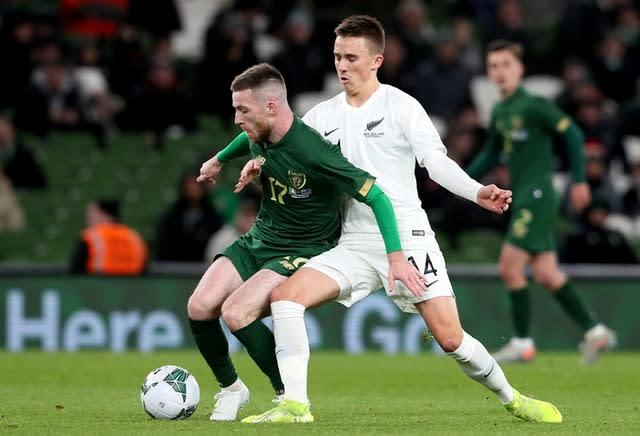 Shamrock Rovers midfielder Jack Byrne may have played himself into contention for a role against the Danes (Brian Lawless/PA)