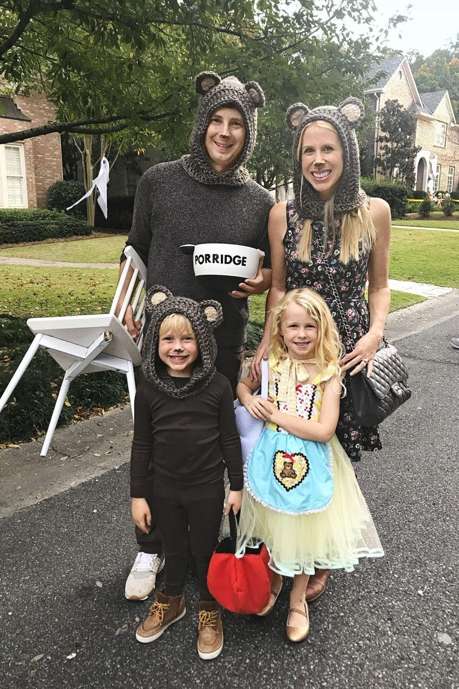"""<p>When we need Halloween costume inspo, we look to <em>Country Living</em> Editor-in-Chief Rachel Hardage Barrett! Last year, she dressed her family up as <em>Goldilocks and the Three Bears</em>, complete with a clearly-labeled bowl of porridge. Now, that's a cute idea.</p><p><a class=""""link rapid-noclick-resp"""" href=""""https://www.amazon.com/RARITY-US-Toddlers-Winter-Beanie-Coffee/dp/B07JJHWZHG?tag=syn-yahoo-20&ascsubtag=%5Bartid%7C10050.g.23785711%5Bsrc%7Cyahoo-us"""" rel=""""nofollow noopener"""" target=""""_blank"""" data-ylk=""""slk:SHOP BEAR HATS"""">SHOP BEAR HATS</a></p>"""