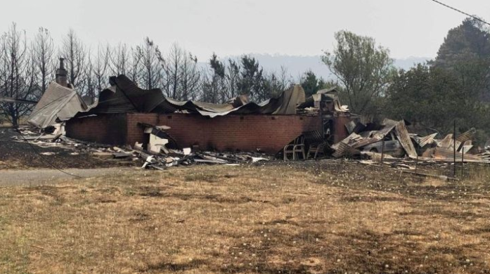 Ms Bates' home was destroyed by the Dunns Road bushfire. Source: GoFundMe