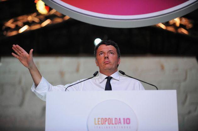 FLORENCE, ITALY - OCTOBER 20: Italian Politician and Senator leader of the new party Italia Viva, Former Italian Prime Minister and former Secretary of Partito Democratico Matteo Renzi speaks during the meeting of the Leopolda 10 on October 20, 2019 in Florence, Italy. The Leopolda, an annual public meeting to discuss Italian politics, was launched in 2010 by Matteo Renzi, then Mayor of Florence. This year's event is the 10th edition of the convention and Matteo Renzi decided to launch his new party Italia Viva here after he left the Democratic Party last September. (Photo by Laura Lezza/Getty Images)
