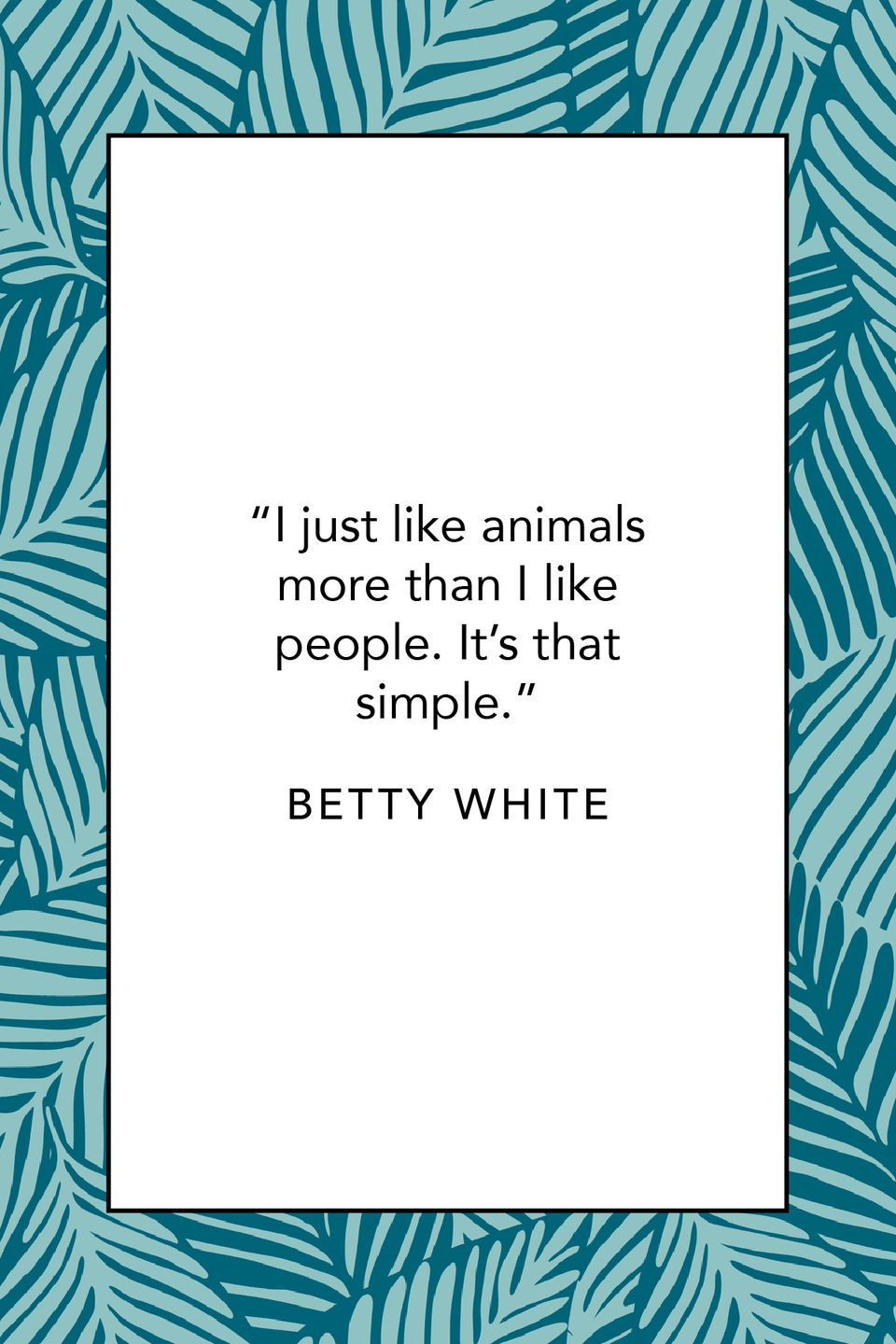 """<p>""""I just like animals more than I like people. It's that simple,"""" she said during an interview with <em><a href=""""https://www.youtube.com/watch?v=WJzQhHV2irw"""" rel=""""nofollow noopener"""" target=""""_blank"""" data-ylk=""""slk:Entertainment Online"""" class=""""link rapid-noclick-resp"""">Entertainment Online</a>.</em></p>"""