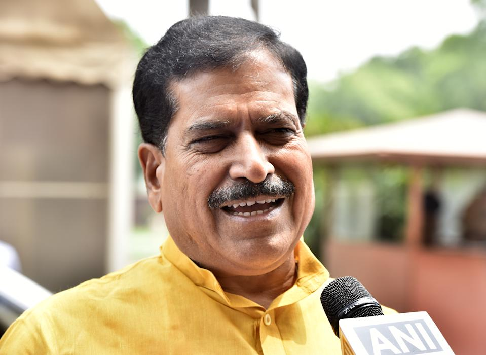 Former Minister of State for Railways, Suresh Angadi passed away of COVID-19 on September 23, at the All India Institute of Medical Sciences (AIIMS). The 65-year-old BJP leader, a lawyer by training, had announced his diagnosis on Twitter, adding that he was fine. He had been under medical care for 15 days before his death. <br>Among the senior leaders of BJP from Karnataka, Angadi was a four-time elected MP from Belagavi before becoming a Union Minister. <br><em><strong>Image credit:</strong></em> Minister of state Railways Suresh Channabasappa Angadi leaves after attending the Budget Session on July 8, 2019 in New Delhi, India. (Photo by Sonu Mehta/Hindustan Times via Getty Images)