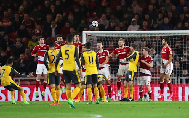 <span>Arsenal beat Middlesbrough 2-1 on Monday night</span>