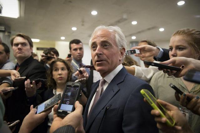 Senate Foreign Relations Committee Chairman Sen. Bob Corker, R-Tenn., on his way to the Senate, July 27, 2017. (Photo: J. Scott Applewhite/AP)