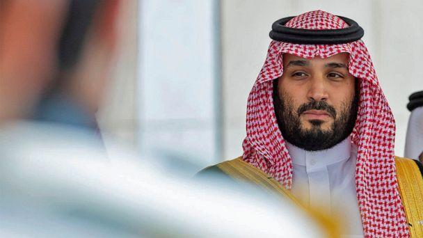 PHOTO: A handout picture provided by the Saudi Royal Palace on Nov. 20, 2019, shows Crown Prince Mohammed bin Salman upon his arrival to attend the annual speech of the Saudi King at the shura council, a top advisory body, in the capital Riyadh. (Bandar Al-Jaloud/Saudi Royal Palace/AFP via Getty Images, FILE)