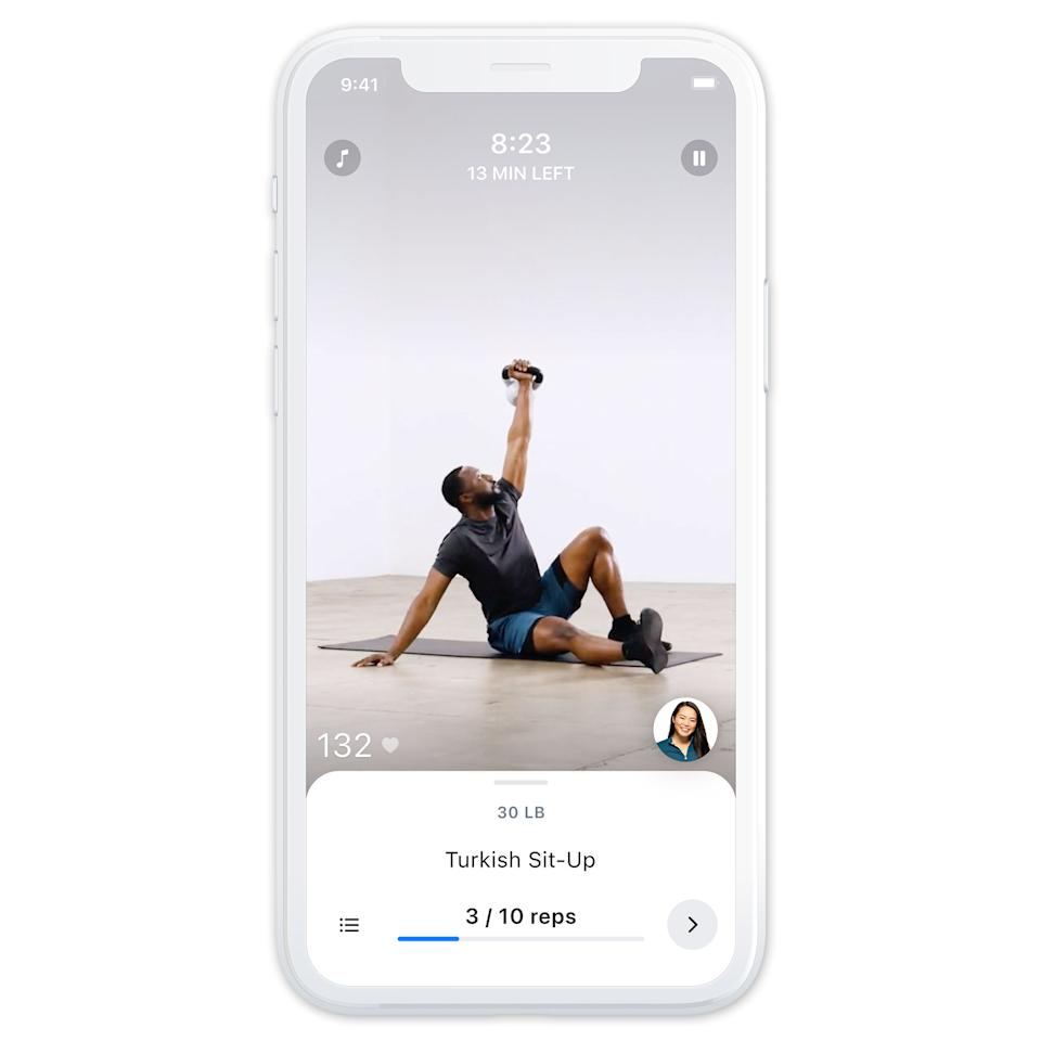 Screenshots from the Future Fit app.