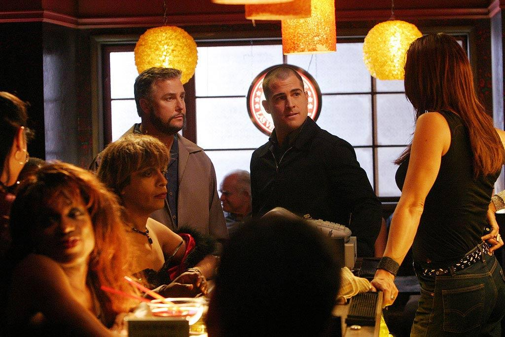 "Grissom and Nick investigate a murder involving the Las Vegas transgender community. (""Ch Ch Changes"" 100th Episode, 11/18/2004, Season 5)"