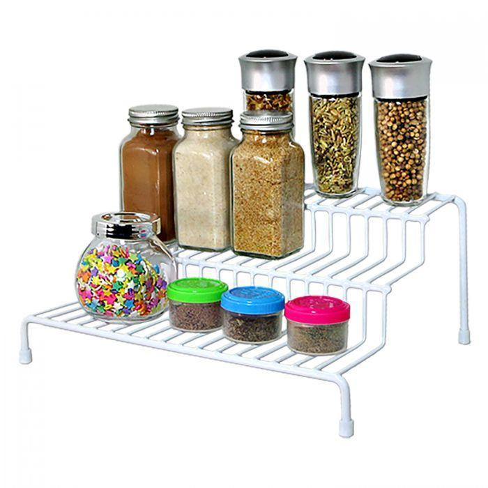 """<p><strong>d g</strong></p><p>dollargeneral.com</p><p><strong>Out of Stock</strong></p><p><a href=""""https://www.dollargeneral.com/trueliving-3-step-pantry-organizer.html"""" rel=""""nofollow noopener"""" target=""""_blank"""" data-ylk=""""slk:Shop Now"""" class=""""link rapid-noclick-resp"""">Shop Now</a></p><p>Elevate your spices, baking supplies, or other kitchen must-haves on this three-tier organizer so you can see exactly what you have tucked away in your cabinets. </p><p><a href=""""https://www.goodhousekeeping.com/home/organizing/g25560359/pantry-organization-ideas/"""" rel=""""nofollow noopener"""" target=""""_blank"""" data-ylk=""""slk:RELATED: 15 Clever Pantry Organization Ideas for All Your Baking (and Snacking!) Needs"""" class=""""link rapid-noclick-resp""""><strong>RELATED: </strong>15 Clever Pantry Organization Ideas for All Your Baking (and Snacking!) Needs</a></p>"""