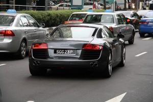 Expensive car on the road