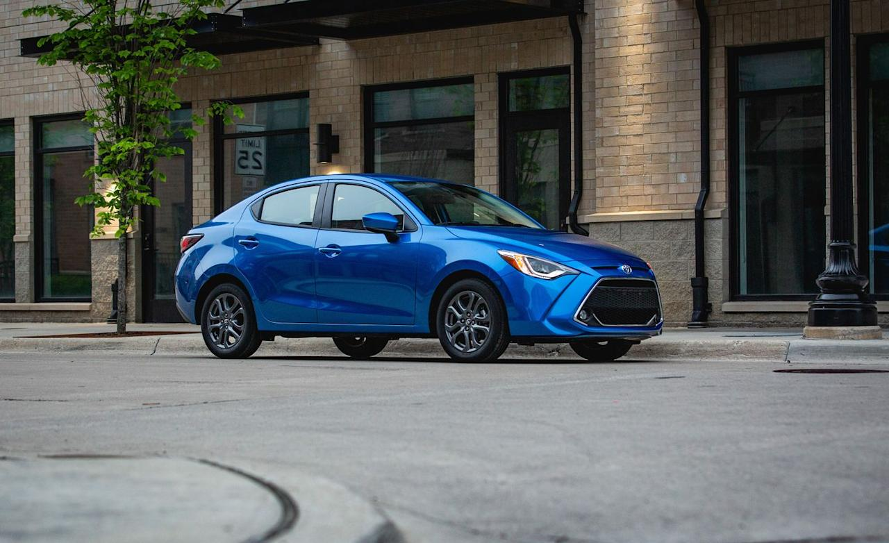 <p>The Yaris started its life as the Scion iA in 2016 and then morphed into the Toyota Yaris iA one year later when Scion went kaput. For 2019, Toyota dropped iA from the name and added two trim levels.</p>