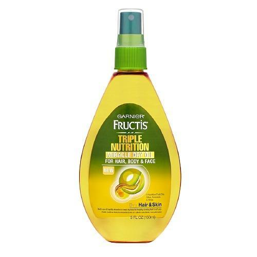 """<p>This formula of olive, avocado, and sweet almond oils combined with shea butter conditions hair and hydrates skin on a budget. Use it on hair to defrizz and protect against the sun and surf or on your skin wherever you need a little moisture. <a href=""""http://www.drugstore.com/garnier-fructis-haircare-triple-nutrition-miracle-dry-oil-for-hair-body-and-face/qxp466360?catid=183520"""" rel=""""nofollow noopener"""" target=""""_blank"""" data-ylk=""""slk:Garnier Fructis Haircare Triple Nutrition Miracle Dry Oil for Hair, Body, & Face"""" class=""""link rapid-noclick-resp"""">Garnier Fructis Haircare Triple Nutrition Miracle Dry Oil for Hair, Body, & Face</a> ($5)<br></p><p>Source: Garnier</p>"""