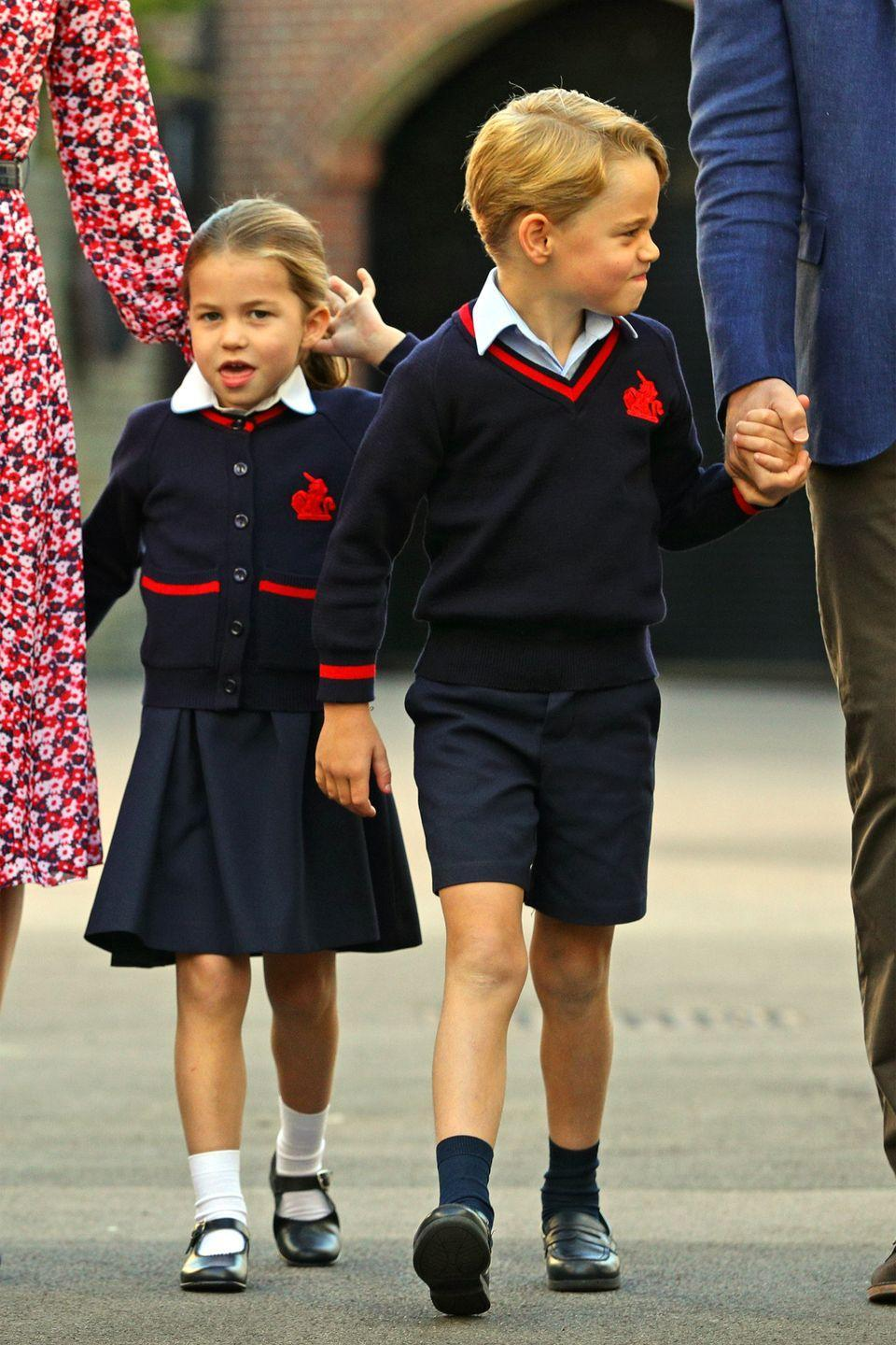 "<p>Prince George and Princess Charlotte make <a href=""https://www.harpersbazaar.com/celebrity/latest/a28922146/princess-charlotte-first-day-of-school-funny-face-photos/"" rel=""nofollow noopener"" target=""_blank"" data-ylk=""slk:silly faces"" class=""link rapid-noclick-resp"">silly faces</a> as they approach school. Prince George <a href=""https://www.harpersbazaar.com/celebrity/latest/a28923702/prince-george-first-day-school-reactions/"" rel=""nofollow noopener"" target=""_blank"" data-ylk=""slk:is the epitome"" class=""link rapid-noclick-resp"">is the epitome</a> of our morning mood. </p>"