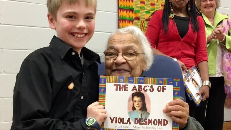 Grade 4 class writes book to tell Viola Desmond's story to other kids