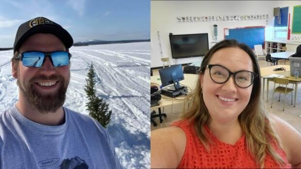 Corey Stroeder and Amanda Reynolds, teachers in small communities in the N.W.T., say teaching over the pandemic was difficult for their mental health. (Submitted by Corey Stroeder/Amanda Reynolds - image credit)