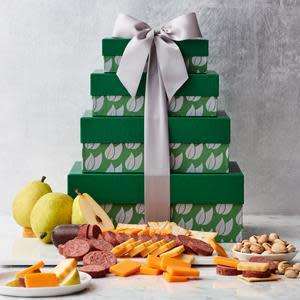 Hickory Farms Fruit & Snack Gift Tower
