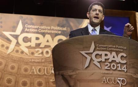 Rep. Paul Ryan attends Conservative Political Action Conference in suburban Washington DC