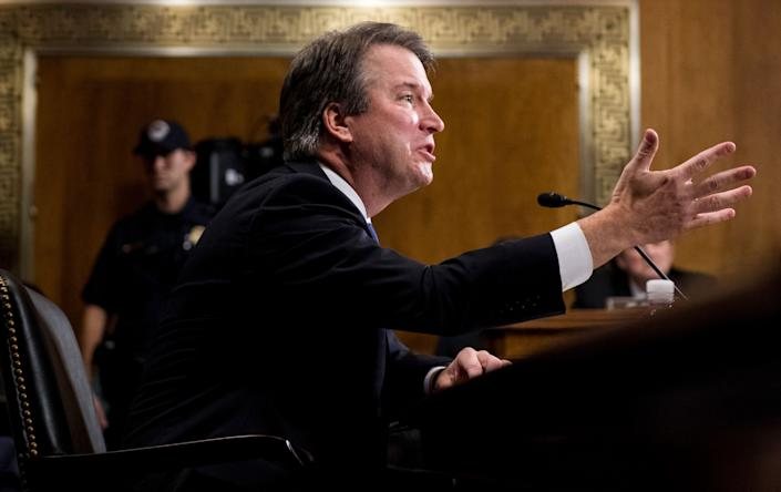 Supreme Court Justice Brett Kavanaugh was confirmed by the Senate in October 2018 to fill the seat of retiring Justice Anthony Kennedy. (Photo: ASSOCIATED PRESS)