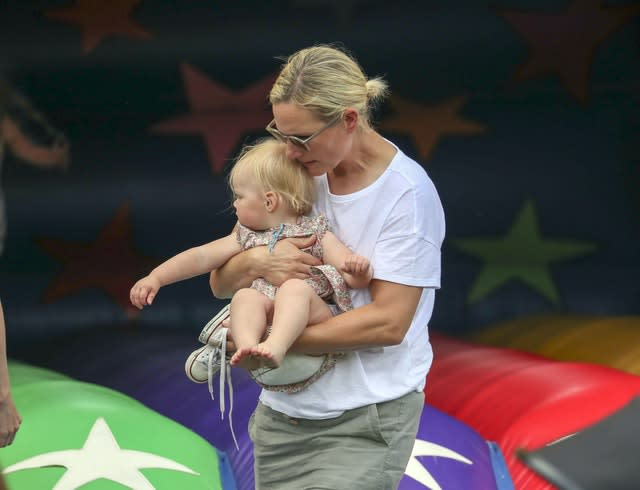 Zara Tindall with her daughter Lena