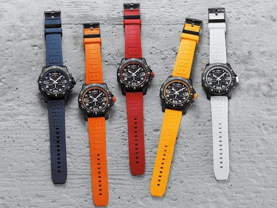 """<p>Athleisure, wearables and fitness trackers were already a booming market – then 2020 focused our minds on daily exercise like never before. It was also the year <a href=""""https://www.esquire.com/uk/watches/g32401878/best-breitling-watches/"""" rel=""""nofollow noopener"""" target=""""_blank"""" data-ylk=""""slk:Breitling"""" class=""""link rapid-noclick-resp"""">Breitling</a> jumped into the athleisure market with its Endurance Pro sports watch. While most sports chronometers are hefty, stainless steel and mechanical – and never really intended to go near a running track – the Endurance Pro was fit for purpose. Colourful, lightweight and sporty it's built to take a proper beating. A winning combination of fitness device and 'proper' Swiss watch.</p><p>£2,450; <a href=""""https://www.breitling.com/"""" rel=""""nofollow noopener"""" target=""""_blank"""" data-ylk=""""slk:breitling.com"""" class=""""link rapid-noclick-resp"""">breitling.com</a></p>"""