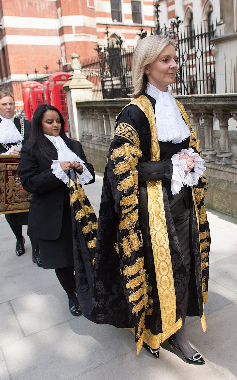 Liz Truss at the royal courts of justice - Credit: Eddie Mulholland