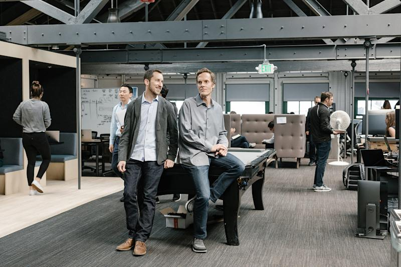James Monsees, left, and Adam Bowen got the idea for Juul as graduate students at Stanford | Jason Henry—The New York Times/Redux