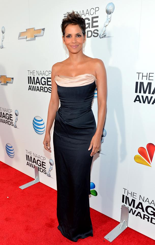 LOS ANGELES, CA - FEBRUARY 01:  Actress Halle Berry attends the 44th NAACP Image Awards at The Shrine Auditorium on February 1, 2013 in Los Angeles, California.  (Photo by Alberto E. Rodriguez/Getty Images for NAACP Image Awards)