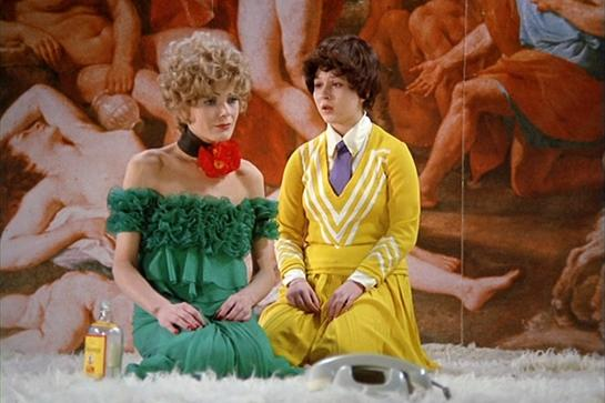 """<h2><em>The Bitter Tears Of Petra Von Kant (1972)</em><br></h2>Fact: Any person who tells you they """"like"""" this movie is lying (or a painfully pretentious art student). The 1972 film by German auteur Rainer Werner Fassbinder is a long, slow dive into the crumbling psyche of its titular character. Von Kant is a successful fashion designer who spends most of the film drinking heavily, lolling about on her bedroom floor telling tragic tales of old loves, trying on a series of wigs, and spitting orders at everyone in her milieu, from her poor, put-upon assistant to her fashion colleagues. This film has no doubt inspired hundreds of drag performances, and possibly Anna Wintour.<span class=""""copyright"""">Photo: Courtesy of Criterion Collection.</span>"""