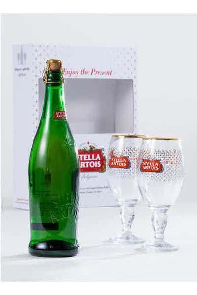 "<p>drizly.com</p><p><a href=""https://go.redirectingat.com?id=74968X1596630&url=https%3A%2F%2Fdrizly.com%2Fstella-artois-premium-belgian-lager-2-chalice-holiday-gift-pack%2Fp59875%3Fis_autocomplete%3Dtrue&sref=https%3A%2F%2Fwww.delish.com%2Fkitchen-tools%2Fg4472%2Fbeer-gifts%2F"" rel=""nofollow noopener"" target=""_blank"" data-ylk=""slk:BUY NOW"" class=""link rapid-noclick-resp"">BUY NOW</a></p><p>This festive holiday box comes with two limited edition Stella Artois Holiday chalices and one big ol' (750 mL) bottle of Stella.</p>"