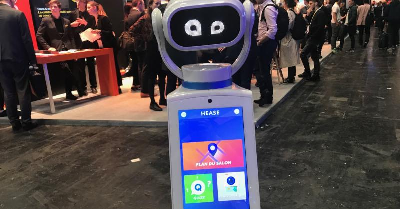 A robot helper at the Viva Technology conference in Paris.