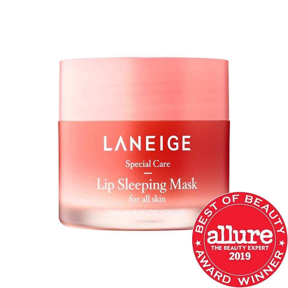 <p>Sure, your mouth may not be seeing the light of day, but this <span>Laneige Lip Sleeping Mask</span> ($22) gives it a sweet treat while you sleep. Packed with vitamins and antioxidants from its berry blend, there's also an eight-hour, time-release layer that can help lips stay moisturized even if this is applied under a protective mask.</p>