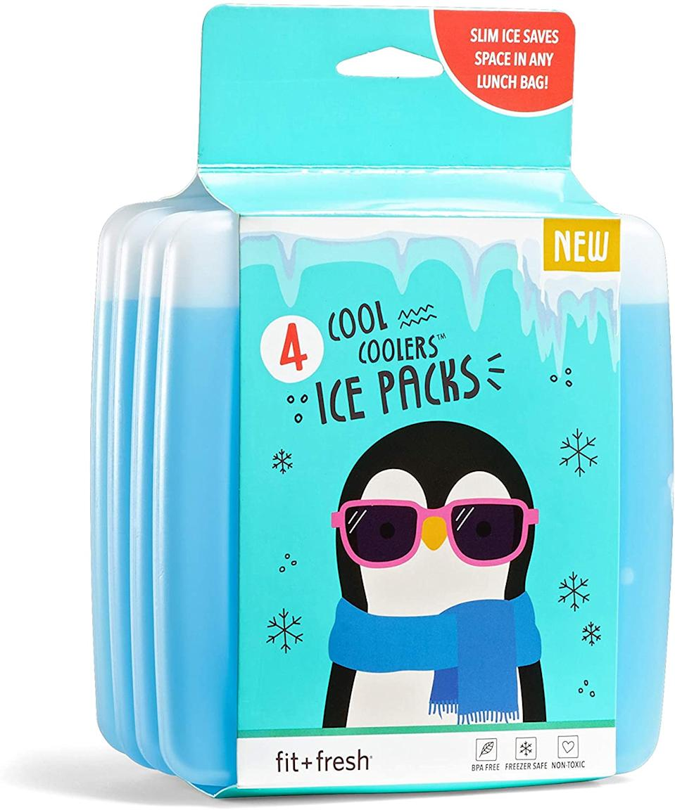 """<br><br><strong>Fit & Fresh</strong> Cool Coolers Reusable Ice Packs, $, available at <a href=""""https://amzn.to/2G0hewj"""" rel=""""nofollow noopener"""" target=""""_blank"""" data-ylk=""""slk:Amazon"""" class=""""link rapid-noclick-resp"""">Amazon</a>"""