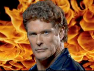 Hasselhoff surprised fans back in 2006 with his fiery video for Jump In My Car. Source: Facebook