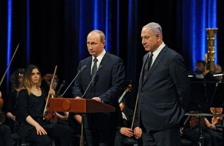 Russian President Putin and Israeli Prime Minister Netanyahu attend concert in Moscow
