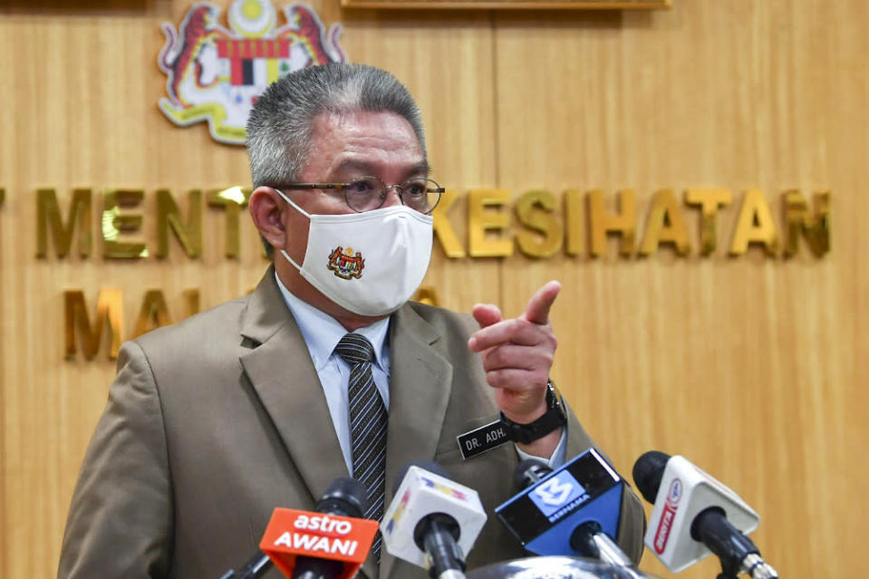Health Minister Datuk Seri Dr Adham Baba said that both the testing and approval processes for the Covid-19 vaccines are very strict. — Bernama pic