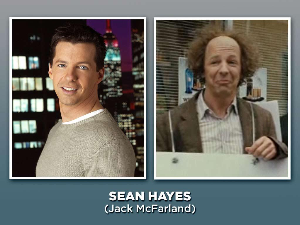 """Hayes went fabulously over-the-top as Will's sassy friend Jack McFarland (aka the star of """"Just Jack""""!), taking the gay sidekick role to a whole new level of ridiculousness. He scored a whopping seven Emmy nominations for the role, winning the award in 2000. (Sensing a theme here?) Hayes went on to pop up occasionally on TV and in movies, and he now works behind the camera as a co-executive producer of """"<a href=""""/hot-in-cleveland/show/46056"""">Hot in Cleveland</a>"""" and """"<a href=""""/grimm/show/42522"""">Grimm</a>."""" Later this year, he'll be taking on the iconic role of Larry in the Farrelly brothers' new """"Three Stooges"""" movie."""