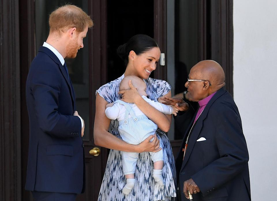 Four-month-old Archie joined the royal couple on tourGetty Images