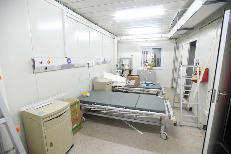 A patients' room in Huoshenshan Hospital in Wuhan, Hubei Province, China.