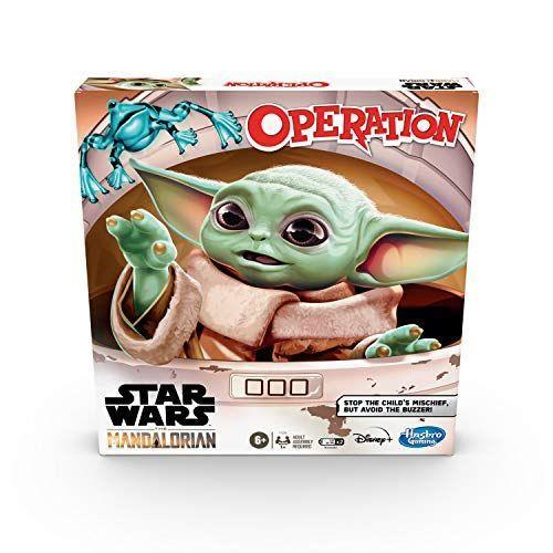 """<p><strong>Hasbro Games</strong></p><p>amazon.com</p><p><strong>$14.99</strong></p><p><a href=""""https://www.amazon.com/dp/B0853ZZHBX?tag=syn-yahoo-20&ascsubtag=%5Bartid%7C10055.g.33609399%5Bsrc%7Cyahoo-us"""" rel=""""nofollow noopener"""" target=""""_blank"""" data-ylk=""""slk:Shop Now"""" class=""""link rapid-noclick-resp"""">Shop Now</a></p><p>Don't worry, you won't be operating on Baby Yoda, but rather, you'll be using the tweezers to find his cup of broth, mudhorn egg, and more. </p>"""