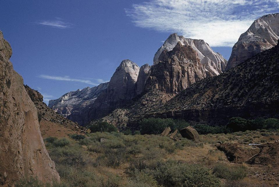 <p>The East Temple in Zion National Park, Utah // Circa 1975</p>