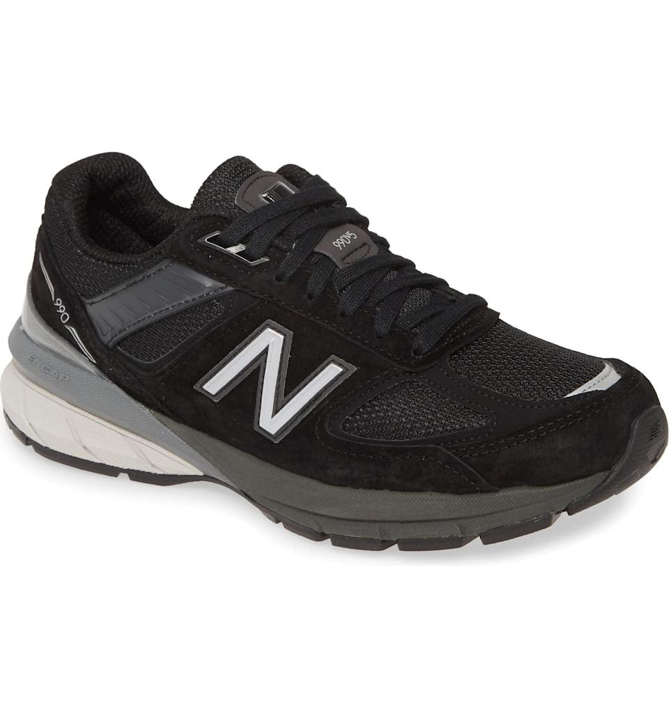 <p>These cool <span>New Balance 990v5 Sneakers</span> ($175) can go from the treadmill to brunch.</p>