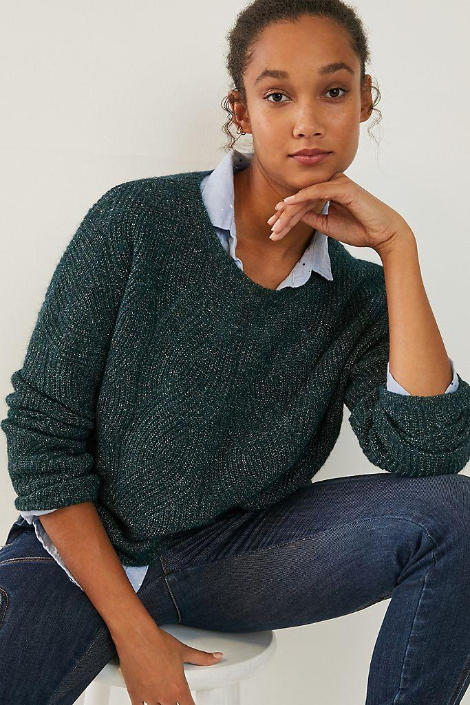 Keely Cable-Knit Sweater. Image via Anthropologie.