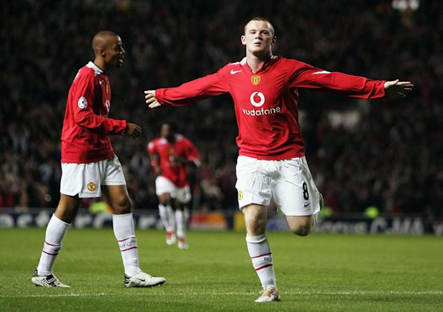 <p>What a way to announce yourself on the big stage. Wayne Rooney's Manchester United -and Champions League – debut ended in a hat-trick. </p>