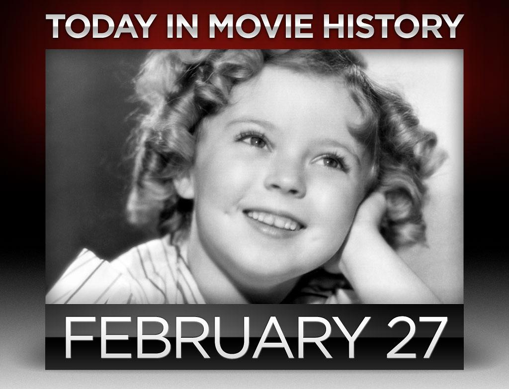 "<strong>1936</strong> – Seven-year-old <a href=""http://movies.yahoo.com/person/shirley-temple/"">Shirley Temple</a> signed a seven-year, $50,000 per film contract with 20th Century Fox on this day. The studio also altered Temple's birth certificate to make her one year younger and prolong her child-star street cred.  Two years later, Temple became the number one box office draw in America.  And many years after that, President H.W. Bush named her ambassador to Czechoslovakia."