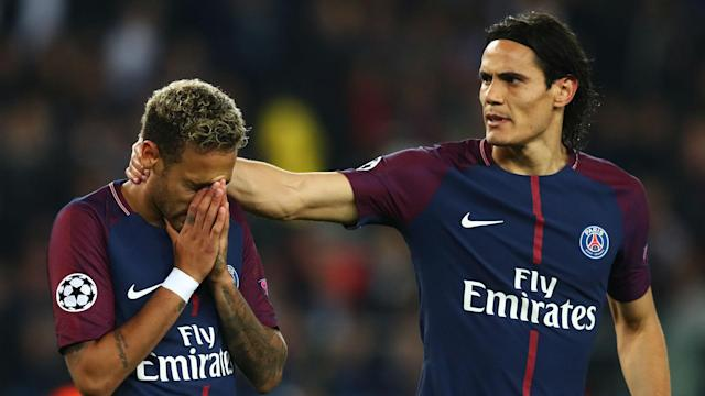 Part of a competitive side but not friends appears to be Edinson Cavani's desired relationship with Paris Saint-Germain team-mate Neymar.