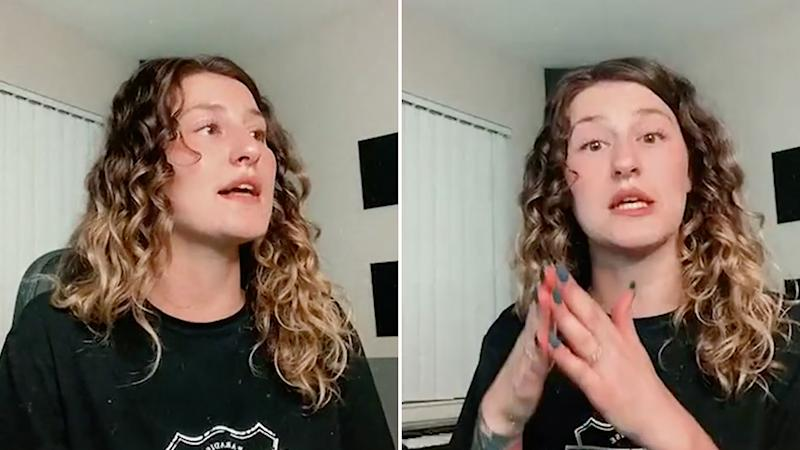 Pictured is Sharon Spellman on Instagram live, following the ordeal, giving more context about Robin and why she believes her actions were racially motivated.