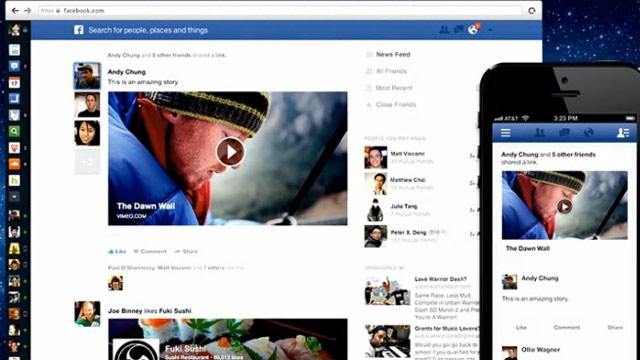 Facebook News Feed Redesigned with Larger Images and Different Feeds