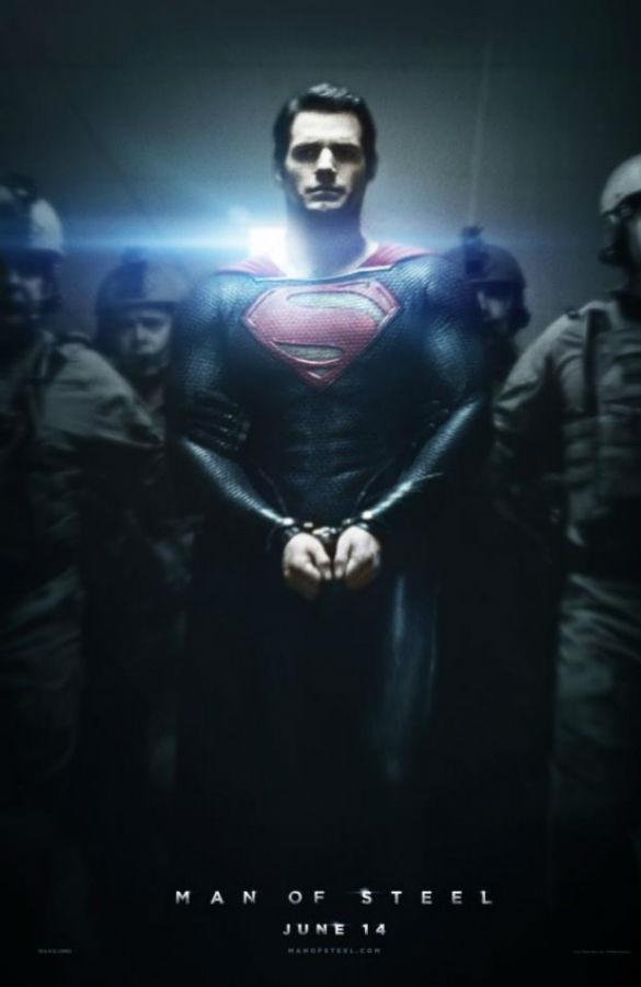 'Fifty Shades of Superman'? Henry Cavill Hand-Cuffed In New 'Man of Steel' Poster