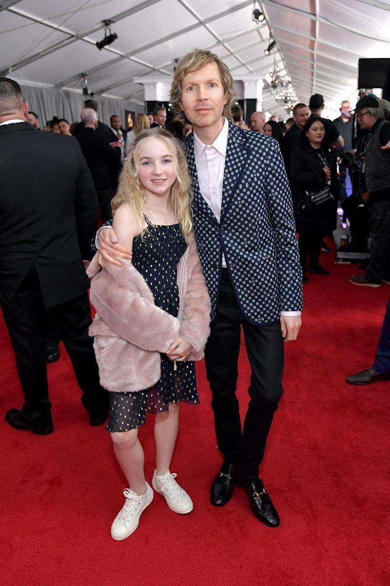 Beck with his 11-year-old daughter, Tuesday Hansen.