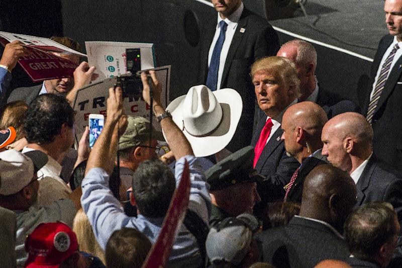The Republican nominee, Donald Trump has already tried to paint Obama and his would-be successor Hillary Clinton as weak on terrorism (AFP Photo/Angelo Merendino)