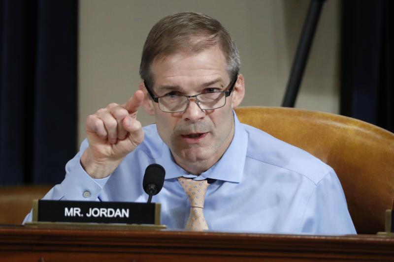 Gibbs says that Rep. Jordan hasn't done enough for farmers in his district. (Photo: AP Photo/Jacquelyn Martin, Pool)